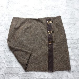 Michael Kors| Wool and Silk Blend Tweed Skirt